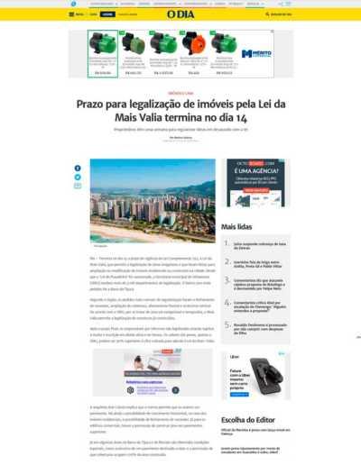 Arquitetura Resolve no Jornal O Dia